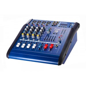 Mixer audio amplificat cu display digital, usb, sd card, 4 intrari de microfon