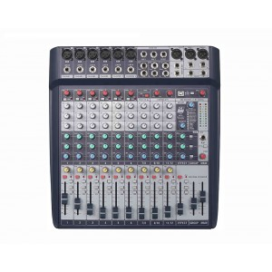 Mixer Audio profesional 12 canale, cu efect audio DSP
